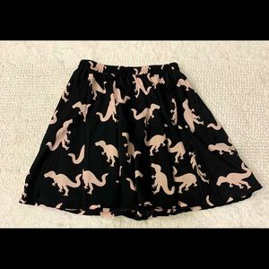 "Adorable ""dinosaur"" skater skirt! Size small"